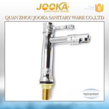 Single lever chrome plated zinc body basin faucet