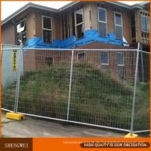 Silbernes Spray malte australischen vorübergehenden Zaun