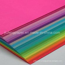 Роскошная 100% оригинальная древесная целлюлоза, окрашенная в цветную бумагу Бумажная бумага
