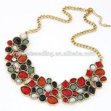 Короткий дизайн моды горный хрусталь кулон yiwu оптовая ожерелье
