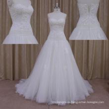 Vestidos de boda simples del satén del estilo encantador
