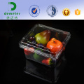 Bandeja plástica da embalagem das frutas e legumes empilháveis da exposição do supermercado