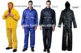 nylon polyester 190T waterproof heavy rainsuit