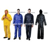 nylon polyester 190T waterproof heavy rainsuit