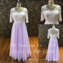 A parte traseira pode ajustar a faixa de três quartos da luva p para combinar flor vestido menina vestido de dama de honra festa dres