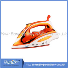 Hot-Selling Ssi2837 Travelling Steam Iron Electric Iron with Ceramic Soleplate (Orange)