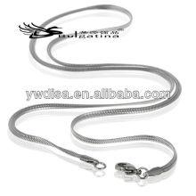 316L acero inoxidable Mens 'trigo 3 mm encanto collar de diseño de la cadena