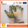 Beige Nylon mit grünem Nitril-Handschuh-Dnn510