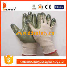 Beige Nylon with Green Nitrile Glove Dnn510