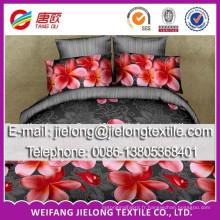 la meilleure mode belle tissu de lit de microfibre