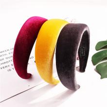 Bandeau cheveux tali rambut Vintage Velvet Sponge Thick Headband Solid Autumn Winter Hairband for Women Girl Korean Fashion Hair Accessories Dropshipping