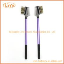 Purple sourcils Brosse peigne avec poignée en plastique