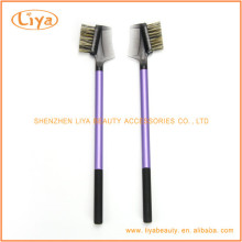 Purple Eyebrow Brush Comb With Plastic Handle