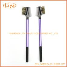 Фиолетовый бровей щетка Расческа с пластмассовой ручкой