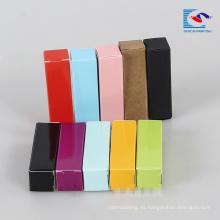 barato caja de embalaje plegable para brillo de labios con su propio logotipo