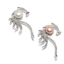 2016 Design Peacock Shape Pearl Pendant Jewelry Charms Necklace
