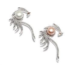 2016 Design Peacock forma colar de pingente de pérola encantos colar