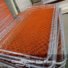 Orange Construction Chain Link Fence Panel