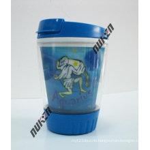 2015 Blue 3D Lenticular Cup Cartoon with Lids
