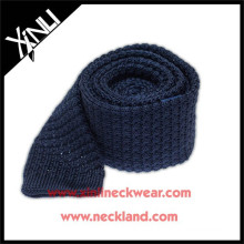 2015 Chinese Fashion 100% Silk Mens Knitted Tie Navy