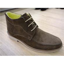 Tornozelo Camurça Mens Ankle Boots Cinza Escuro (NX 507)