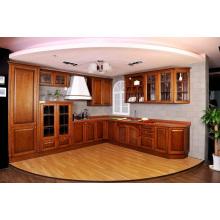 Chaleira Avalon Recessed (Chestnut) Cabinet de cozinha de madeira maciça