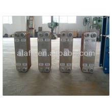 Brasé plaque échangeur costume petit débit ou une température élevée, fabrication d'échangeur de chaleur