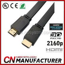 2014 Neues Produkt 1M 5M 10M flaches HDMI Kabel für BLURAY 3D DVD PS 3 HDTV 360