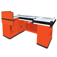 Nice selling new design cashier stand for supermarket JS-CC06, supermarket cashier equipment, used checkout counters