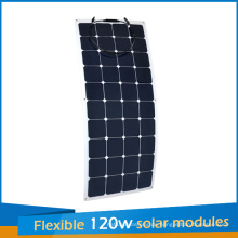 2016 Neues Design Sunpower Flexible Solarpanel 120 Watt