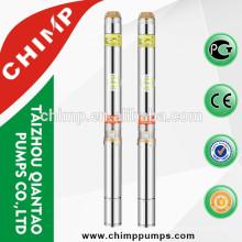 CHIMP spécification de électrique submersible pompe à eau profonde puits monophasé moteur cuivre enroulement