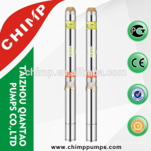 CHIMP specification of electric submersible deep well water pump single phase motor copper winding