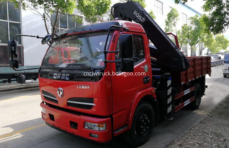 articulated crane truck
