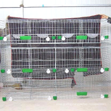 H type galvanized welded removable breeding metal pigeon cage with wheels for sale