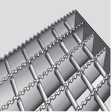 Rostfritt Serrated Steel Grating