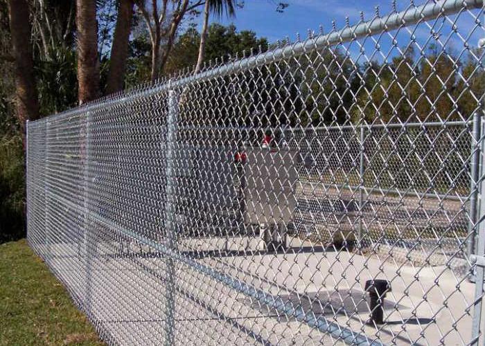 Chain link mesh anti-intruder fence