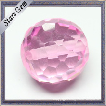 Faceted Cut Round Cubic Zirocnia Gemstone Beads