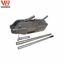Grue de levier de câble métallique de prix d'usine, grue de traction d'acier de câble de bloc de levier