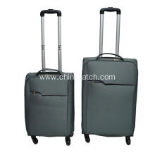 600D 2 Pieces Imitated Aluminum Trolley Case