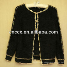 13STC5383 golden edged ladies cardigan sweater