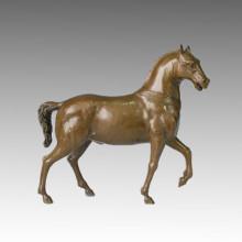 Escultura de bronce animal Escultura clásica de cobre amarillo de caballo Tpal-124