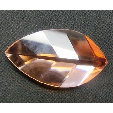 Leaf Shape Shiny Flat Back Glass Beads Stones for Jewelry