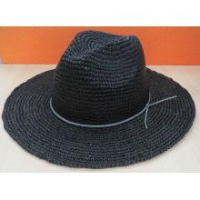 Chapeau de chapeau de chapeau en paille en papier Fedora (SW-080004)