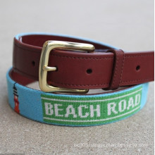 Wholesale embroidery design Canvas Web Belts