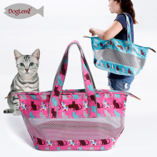 Cão respirável Pet Sling Carrier Cabelo Livre Canvas Pet Cat Travel Carrier