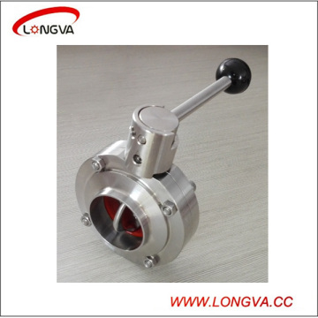 Stainless Steel Sanitary Welding Butterfly Valve with Pulling Handle