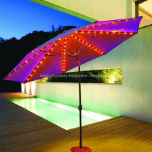 Nice Straight Metal Tilt Led Outdoor Umbrella
