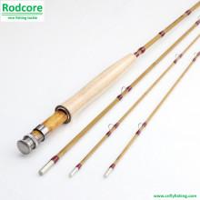 8 футов 3шт 5wt Сплит бамбук Fly Rod