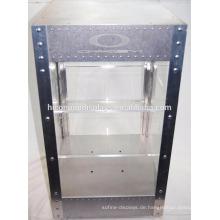 Arbeitsplatte 2-Tier Acryl Regal Metallrahmen Elektrische Beleuchtung Locking Sunglass Display Case zum Verkauf