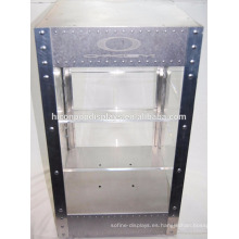 De la cubierta de acrílico 2-Tier del estante de la estructura eléctrica del metal que enciende la caja de exhibición de Sunglass para la venta